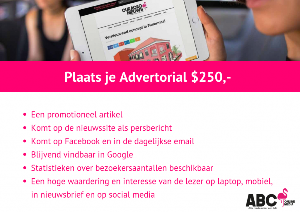 plaats je advertorial